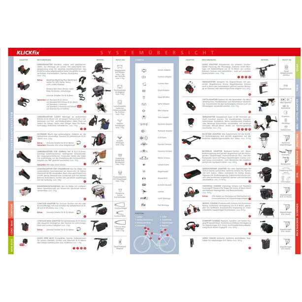KlickFix Rahmenadapter für Bügelschloss schwarz