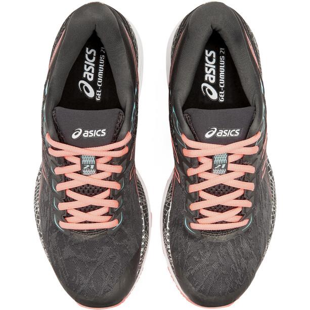 asics Gel-Cumulus 21 Lite-Show Schuhe Damen graphite grey/sun coral