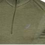 asics Nahtloses Langarm Half-Zip Top Herren mantle green/lichen green
