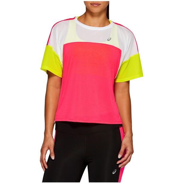 asics Style Kurzarmtop Damen laser pink/brilliant white