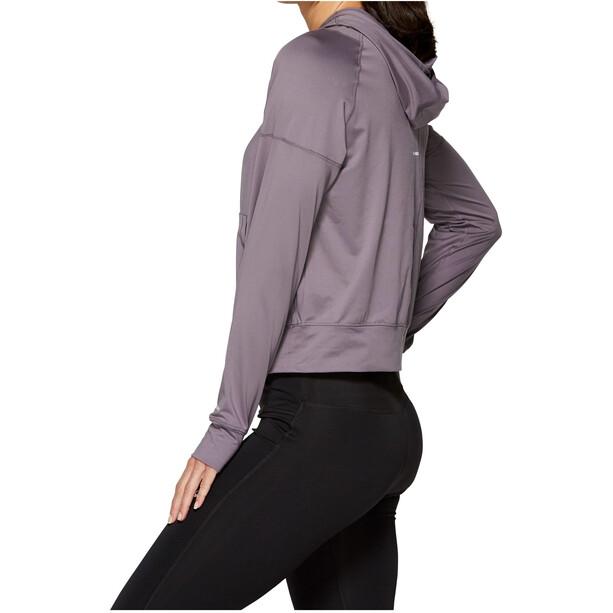 asics Thermopolis Half-Zip Langarmhoodie Damen lavender grey