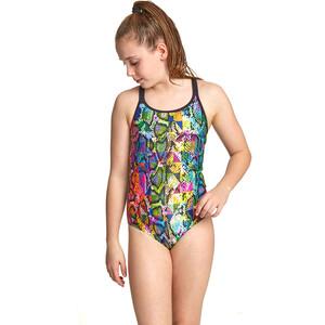 Zoggs Zany Skin Duoback Swimsuit Girls multi multi