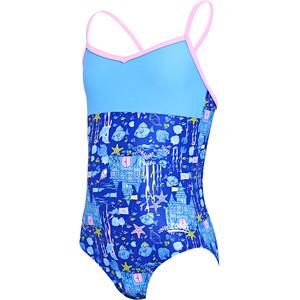 Zoggs Undersea V Back Badeanzug Mädchen blue/multi blue/multi
