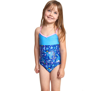 Zoggs Undersea V Back Swimsuit Girls blue/multi blue/multi