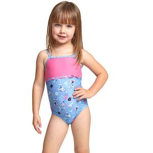 Zoggs Space Circus Ruffle X Back Swimsuit Girls blue/multi blue/multi