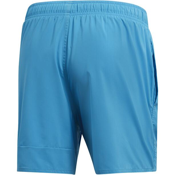 adidas Badge of Sport SL Shorts Herren shock cyan/black
