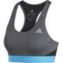 adidas Don't Rest Alphaskin Print 2 Sport BH Damen black/shock cyan