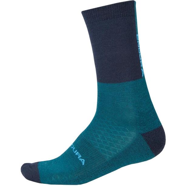 Endura BaaBaa Merino Winter Socken Single Herren king fisher