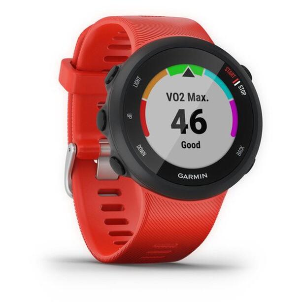 Garmin Forerunner 45 GPS Smartuhr black/lava red