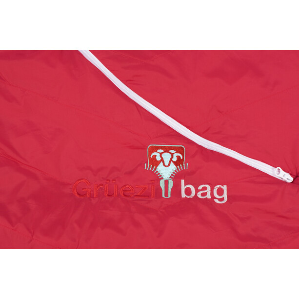 Grüezi-Bag Biopod Wool Zero Schlafsack Regular tango red