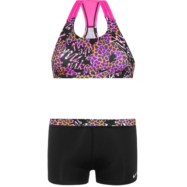 Nike Swim Hyper Web Racerback Sport Bikini & Shorts Mädchen black