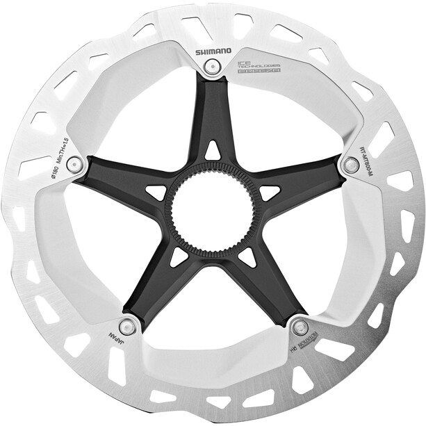 Shimano RT-MT800 Bremseskive Senterlås sølv