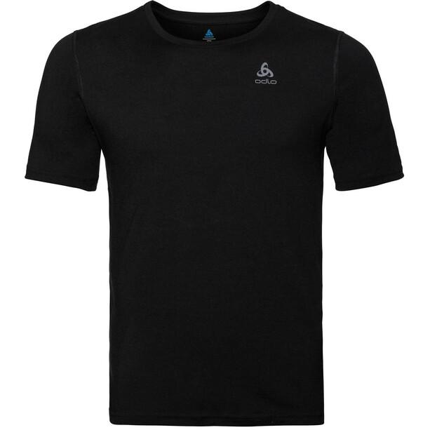 Odlo Natural Merino Rundhals-Kurzarmshirt Herren black/black