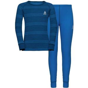 Odlo Active Originals Warm Set Kinder diving navy/directoire blue/stripes diving navy/directoire blue/stripes
