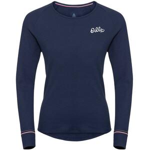 Odlo Active Originals Warm LS Rundhalsshirt Damen diving navy diving navy