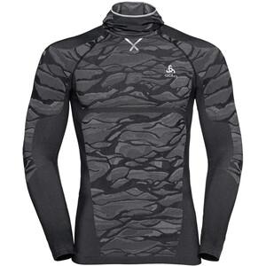 Odlo Blackcomb Langarmshirt mit Sturmmaske Herren black/odlo steel grey/silver black/odlo steel grey/silver