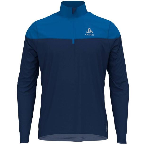 Odlo Ceramiwarm Element Half Zip Midlayer Herren estate blue/directoire blue