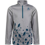 Odlo Carve Light Half Zip Midlayer Kinder odlo concrete grey melange