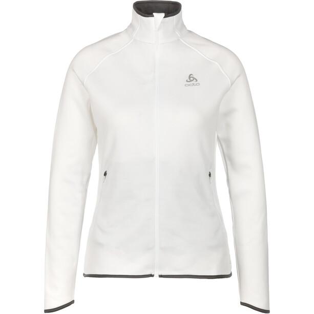 Odlo Carve Ceramiwarm Full-Zip Midlayer Damen white