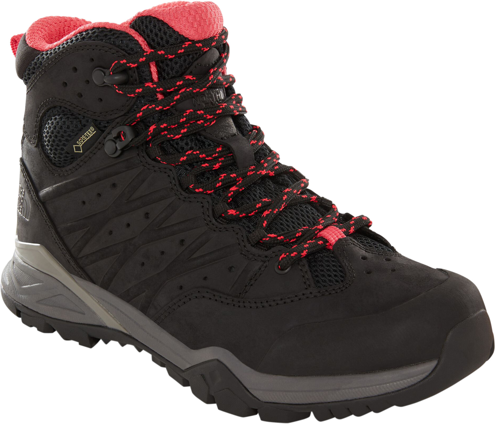 The North Face Hedgehog Hike II Mid GTX Schuhe Damen tnf blackatomic pink