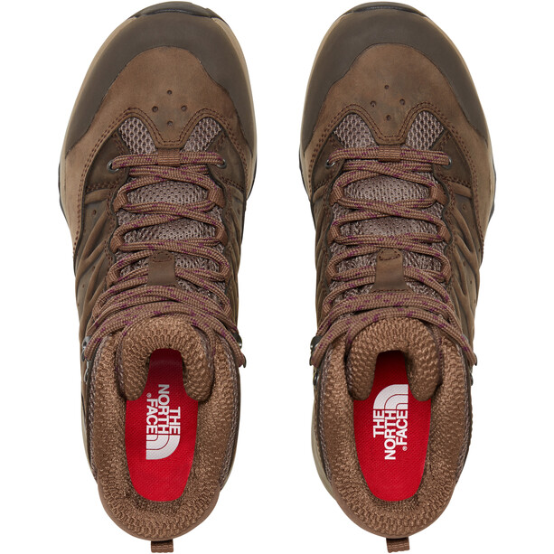 The North Face Hedgehog Hike II Mid GTX Shoes Dam Bipartisan Brown/Pamplona Purple