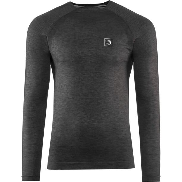 Compressport Langarm Training T-Shirt black