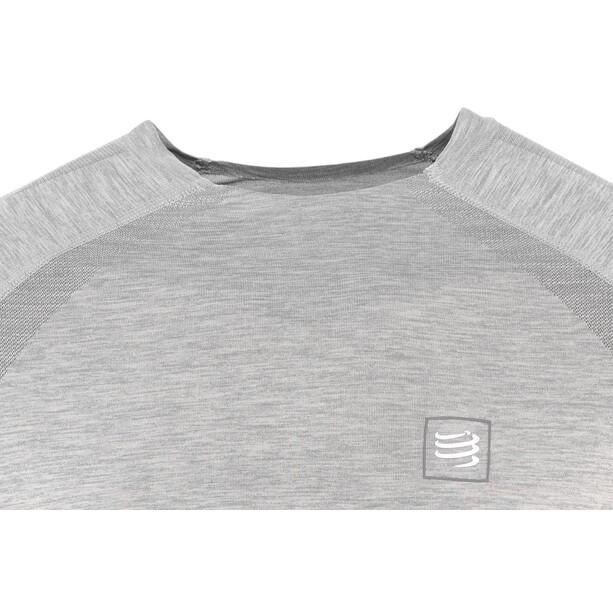 Compressport Langarm Training T-Shirt grey melange