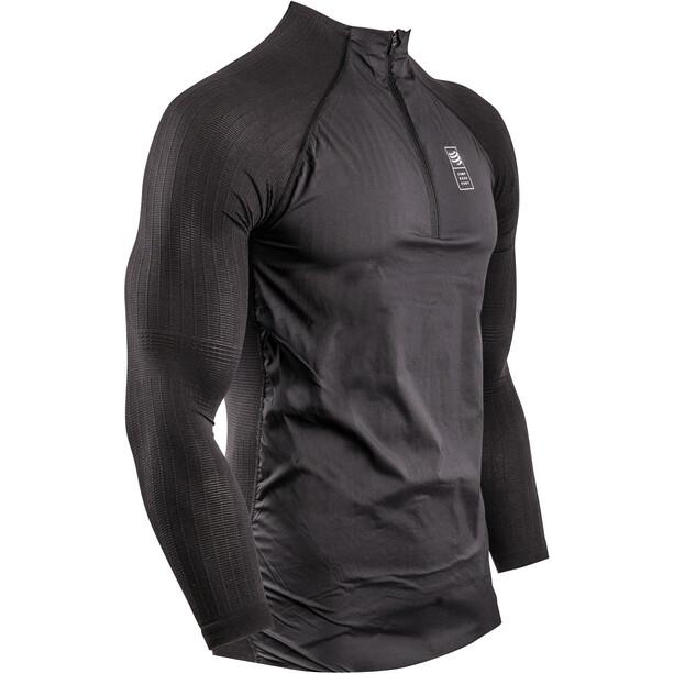 Compressport Hybrid Thermo Pullover Herren black