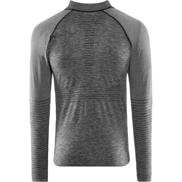 Compressport Nahtloses Zip Sweatshirt grey melange