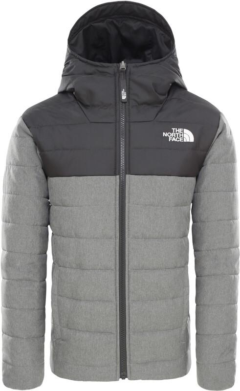 The North Face Reversible Perrito Jacket Boys TNF Medium Grey Heather L   152-170 2019 Skidjackor