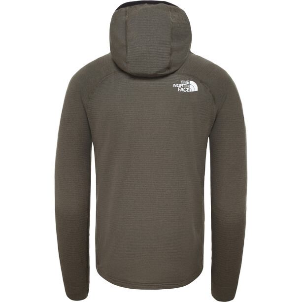 The North Face Summit L2 Power Grid LT Hoodie Jacket Herr New Taupe Green