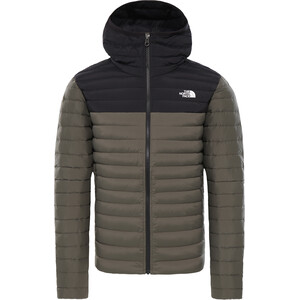 The North Face Stretch Down Hoodie Herr New Taupe Green/TNF Black New Taupe Green/TNF Black