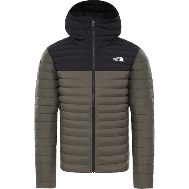 The North Face Stretch Down Hoodie Herr New Taupe Green/TNF Black