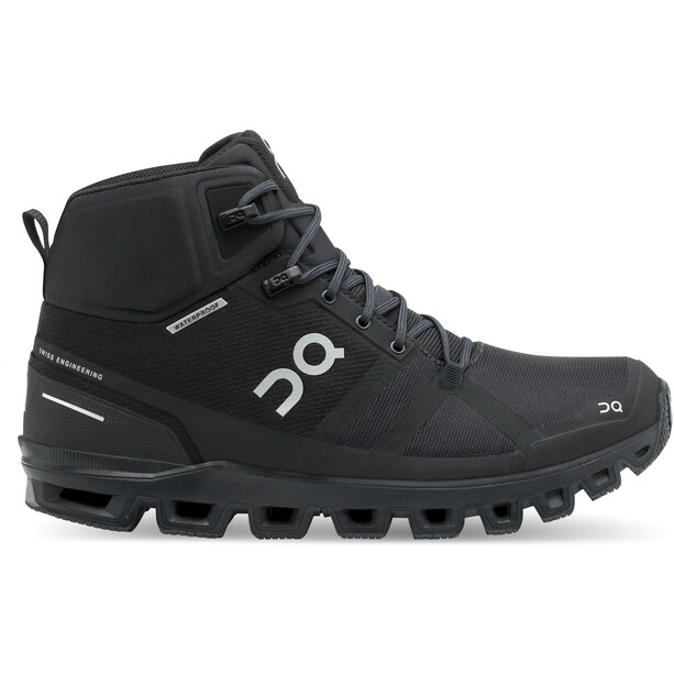 On Cloudrock Waterproof Running Shoes Dam all black