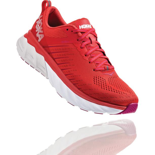 Hoka One One Arahi 3 Running Shoes Dam poppy red/nimbus cloud