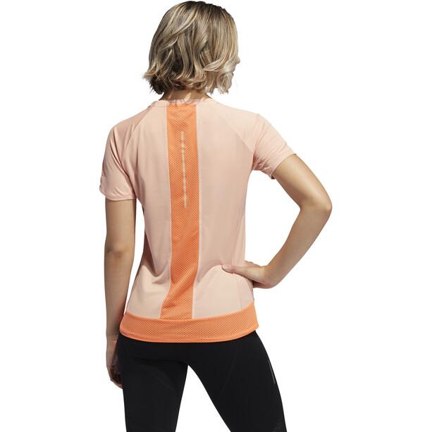 adidas 25/7 Rise Up N Run Kurzarm T-Shirt Damen glossy pink