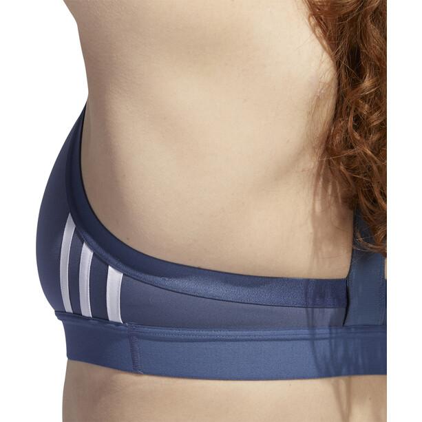 adidas All Me 3-Stripes Sports Bra Women tech ink