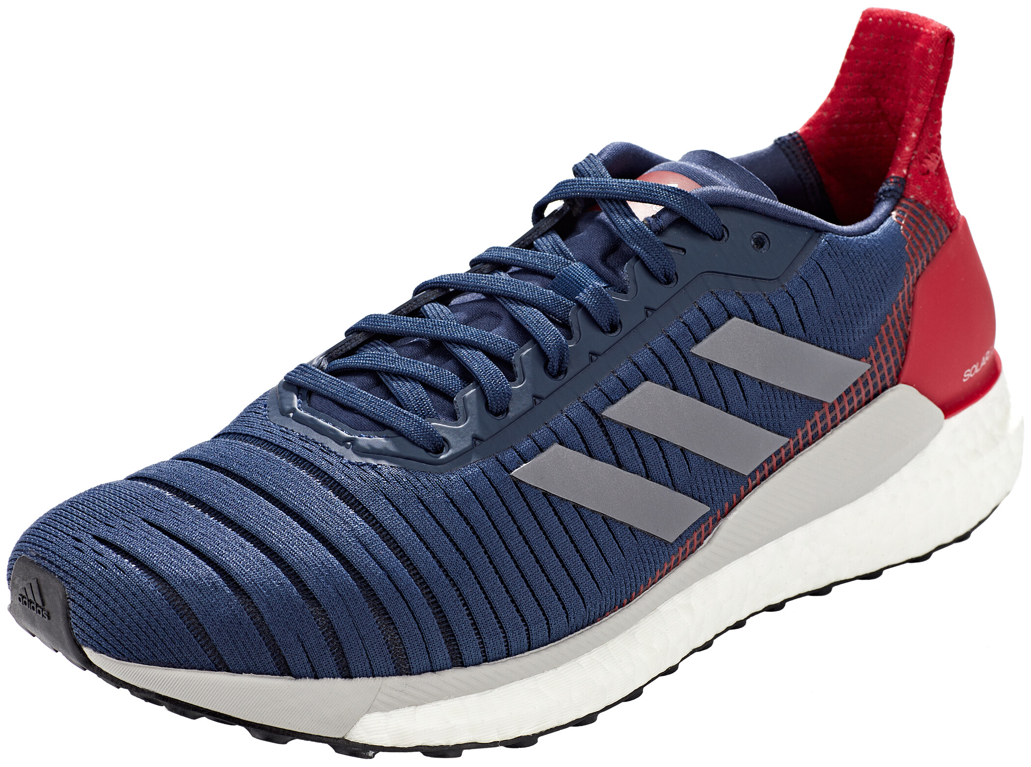 adidas Mens Solar Glide 19 Running Shoes Trainers Blue Sports Breathable