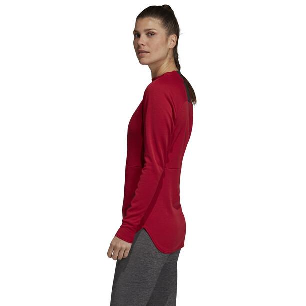 adidas TERREX Climb The City Rundhals-Sweatshirt Damen active maroon