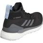 adidas TERREX Free Hiker Gore-Tex Wanderschuhe Damen carbon/grey four/glow blue