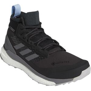 adidas TERREX Free Hiker Gore-Tex Wanderschuhe Damen carbon/grey four/glow blue carbon/grey four/glow blue
