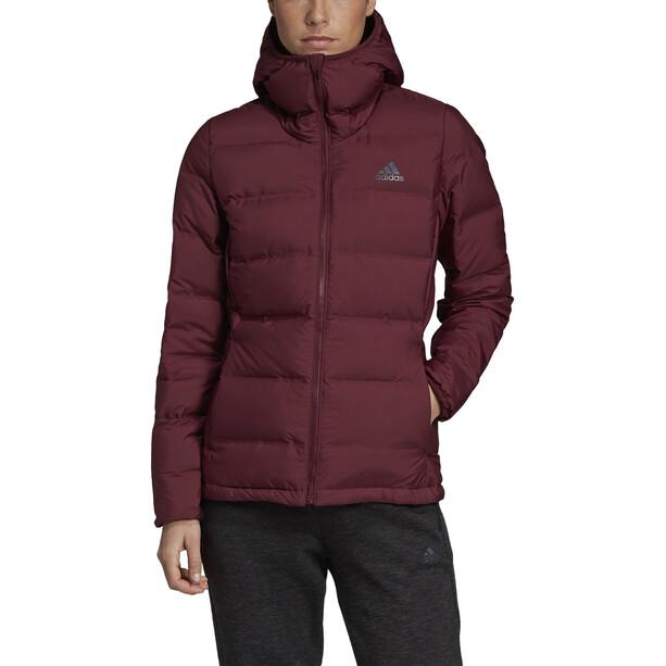 adidas TERREX Helionic Kapuzen-Daunenjacke Damen maroon