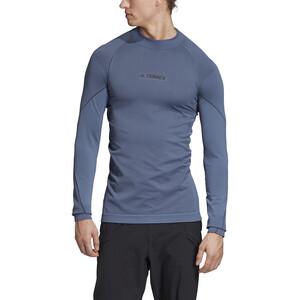 adidas TERREX Knit Langarm T-Shirt Herren tech ink tech ink