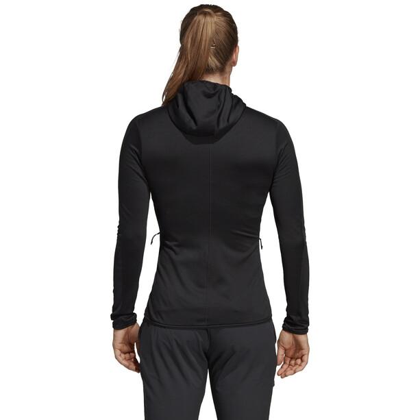 adidas TERREX Tracero Kapuzen-Fleecejacke Damen black black