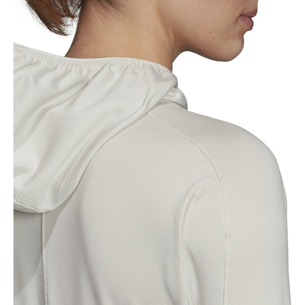 adidas TERREX Tracero Kapuzen-Fleecejacke Damen raw white