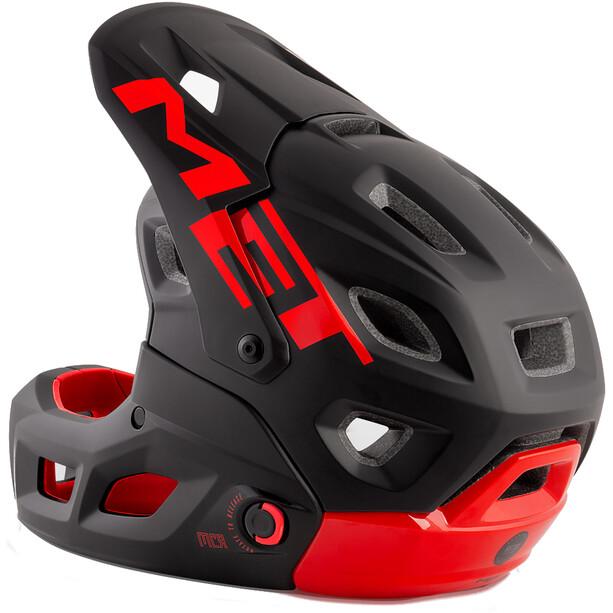 MET Parachute MCR MIPS Helm black red matt