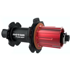 Rotor R-Volver リアホイール Hub Quick Release (Shimano/Rotor用) 2:1 ブラック/レッド