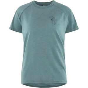 Klättermusen Eir Rain Kurzarm T-Shirt Damen brush green brush green