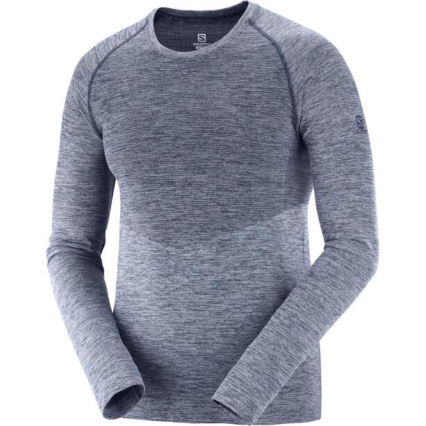Salomon Allroad Seamless Langarm T-Shirt Herren night sky