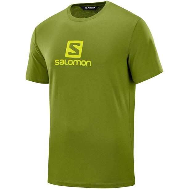 Salomon Coton Logo Kurzarm T-Shirt Herren avocado